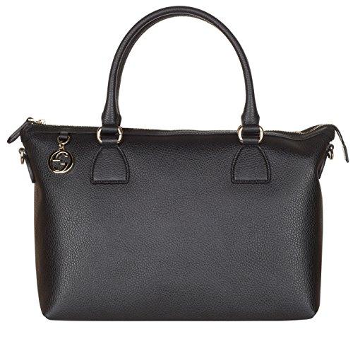 Gucci Black Calf Leather GG Pendant Hobo Shoulder - Gucci Sale Women