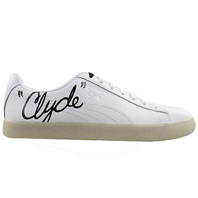 online store b2c5d fd49d Amazon.com | PUMA Men's Clyde Signature Ice White Black 8.5 ...