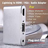 The Newest Type Lightning to HDMI and VGA and Audio Adapter for iPhone 5 5s SE 6 6s 6plus 6sPlus 7 7Plus for iPad Mini Air Pro iPod