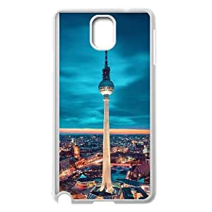 Samsung Galaxy Note 3 Cell Phone Case Covers White Berlin City Msii