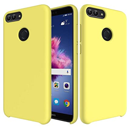 CoverTpu Funda Huawei Honor 9 Lite Silicona, Amarillo Funda Líquido de Silicona Gel TPU Flexible, Carcasa para Huawei Honor 9 Lite Anti-Rasguño y ...