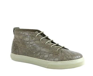750fb360ca1 Amazon.com: Gucci Men's Tan Crocodile High-top Fashion Sneakers ...