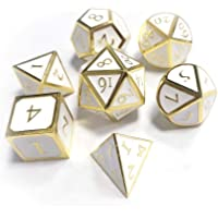Awhao 7pcs/Set Innovative RPG Dice D&D Metal Dice Set for TRPG Game Dungeons and Dragons Polyhedral
