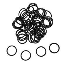 MonkeyJack 50Pcs Carp Fishing Silicone O-Rings Wacky Rig Rigging Worms Soft Stick Baits