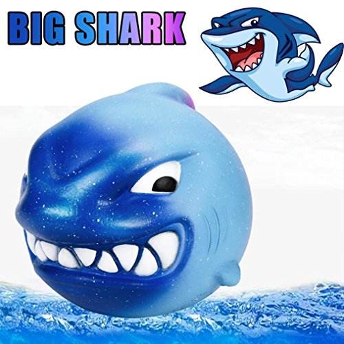 Sagton Stress Reliever Toy for Kids, Squeeze Big Shark Cream Scented Slow ()
