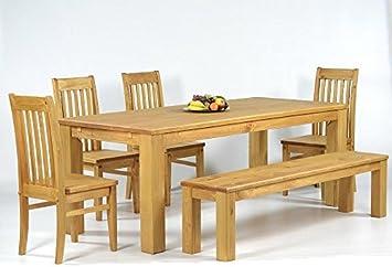 Sitzgruppe Garnitur Mit Esstisch 160x90cm 4 Stuhle Klassic 1