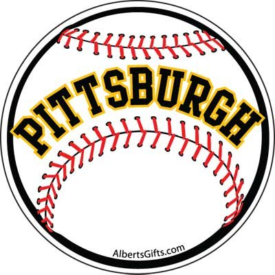 Static Decal Pittsburgh Baseball 3""