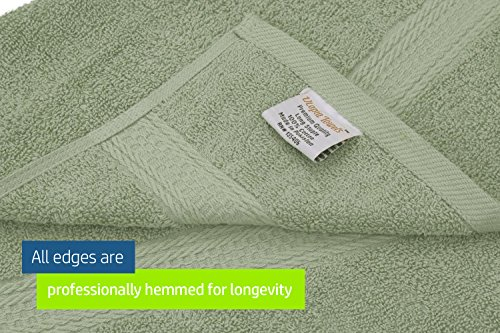 Cotton Bath Towel Set Sage-Green - 8 Piece includes 2 Bath Towels, 2 Hand Towels, and 4 Washcloths - By Utopia Towels