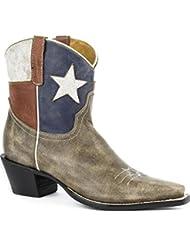 Roper Womens Texas Short Cowgirl Boot Snip Toe - 09-021-7001-0938 Br