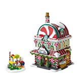 Department 56 North Pole Village Annual Celebrate The Holiday Limited to 2010 Peppermint Pete Lit House and Figurine Set