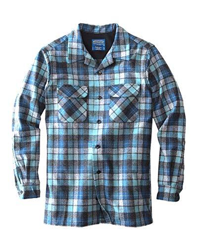 Pendleton Men's Long Sleeve Fitted Board Shirt, Blue Original Surf Plaid, XL