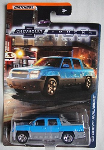 - MATCHBOX 1:75 SCALE DIE CAST CHEVROLET 100 YEARS TRUCKS, BLUE/GRAY '02 CHEVY AVALANCHE
