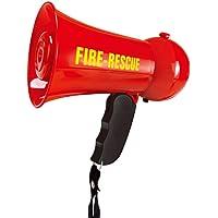 BESTOYARD Mini Megaphone Fire Fighter's Bullhorn Siren Sound