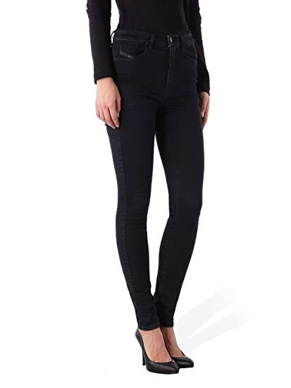 5685335c605f48 Diesel Skinzee-High 0846N Stretch Women's Jeans Trousers Skinny (W24/L32,  Black
