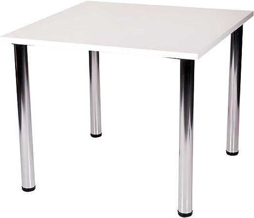 Fabian - Mesa cuadrada pequeña o grande, para cocina o comedor, 4 ...