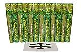 Cyclones Natural Hemp Wraps (12 Packs, 2 Wraps Per Pack) Total 24 Wraps and ES Scoop Card