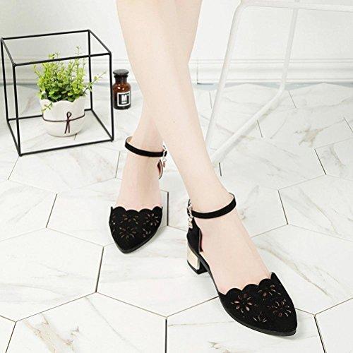 Moda de Negro Baile Huecos de de Sexy Verano Primavera Zapatos Alto Wild Mujer de Gris huateng Huecos y Zapatos Tacón Zapatos z5ntWxnZ