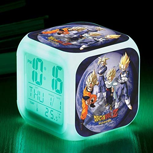2018 Dragon Ball Z Led 7 Color Changing Night Alarm Clocks Son Goku Vegeta Japan Anime Cartoon Toys -Multicolor Complete Series Merchandise