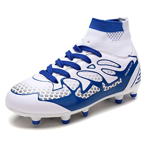 DREAM PAIRS Toddler 160858-K White Royal Fashion Soccer Football Cleats Shoes Size 10 M US Toddler