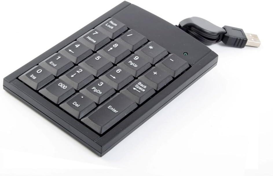 DURAGADGET Retractable USB Laptop NumPad Attachment - Suitable for use with Acer Aspire V5-572G-6679 15.6-inch Laptop (Polar Black)