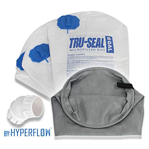 - Hyperflow Tru-Seal Complete Dust Encapsulation and Hygienic Disposal: Replaces 8-Gallon & 12-Gallon MD Bags #720H-5, 720, 721H-5, 721-5, 720HF-3 (Tru-Seal Upgrade Kit)