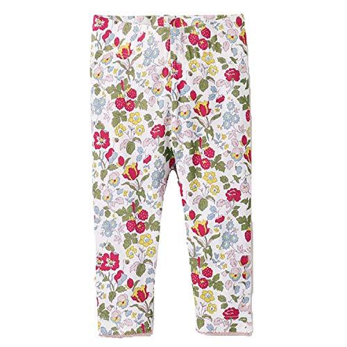 RoCoos Little Girls Leggings Kids Unicorn Pants Star Floral Rainbow Cotton Leggings for Toddlers Girls(Flowers 2T) -