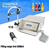 ZONEPACK Liquid Filling Machine Pump Numerical Filler Digital Control Drink Water 5ml to 3500ml GFK160(Machine With One Extra Filter)