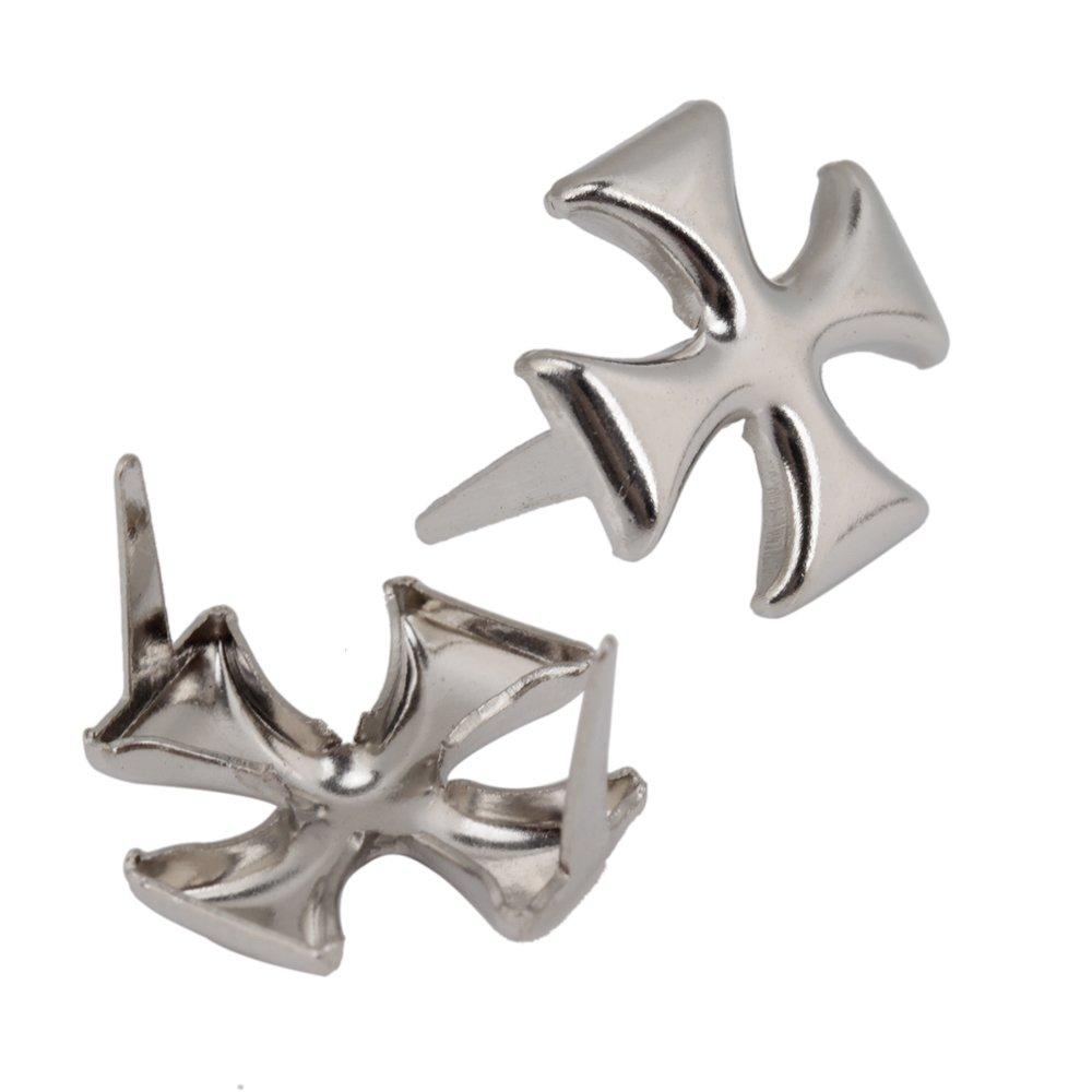 Lot de 200 rivets crois/és 12 mm Argent DIY Boutons Turquoise Rapid Rivets Sac /à Bandouli/ère pour Femme D/écoration de Bijoux