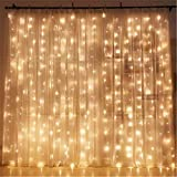 Tools & Hardware : Twinkle Star 300 LED Window Curtain String Light for Wedding Party Home Garden Bedroom Outdoor Indoor Wall Decorations (Warm White)