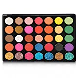Eyeshadow Makeup Palette, Valuemakers 35 Colors Waterproof & Ultra Pigmented Make-up Eye Shadows- Pressed Glitter and Shimmery EyeShadow Powder Cosmetic Makeup Set