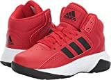 adidas NEO Boys' CF Ilation Mid K Basketball-Shoes, Scarlet/Black/White, 2.5 Medium US Little Kid