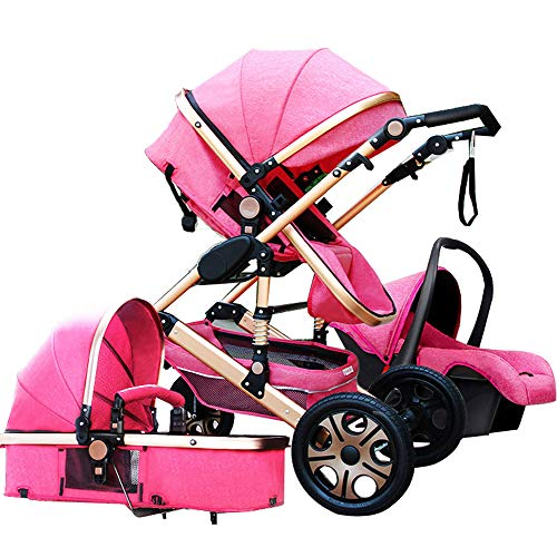Baby Stroller 3 in 1 2 in 1 with Car Seat for Newborn High View Pram Folding Baby Carriage Travel System carrinho de Bebe 3 em 1