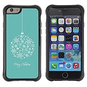 Suave TPU GEL Carcasa Funda Silicona Blando Estuche Caso de protección (para) Apple Iphone 6 / CECELL Phone case / / Merry Christmas Holidays Winter /