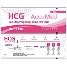 AccuMed Pregnancy (HCG) Test Strips Kit, Clear and Accurate Results, FDA Approved and Over 99% Accurate, 25 count