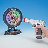 Bits and Pieces Laser Target Shooting Set Game - Laser Pistol and Target Set - Target Measures 17cm in diameter, Gun Measures 20cm long