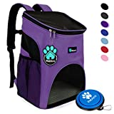 PetAmi Premium Pet Carrier Backpack for Small Cats and Dogs   Ventilated Design, Safety Strap, Buckle Support   Designed for Travel, Hiking, Outdoor Use (Purple)