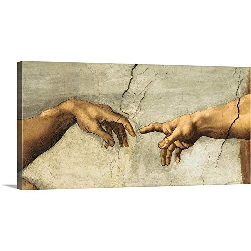 Great Big Canvas Gallery-Wrapped Canvas Entitled Creazione di Adamo, particol ()