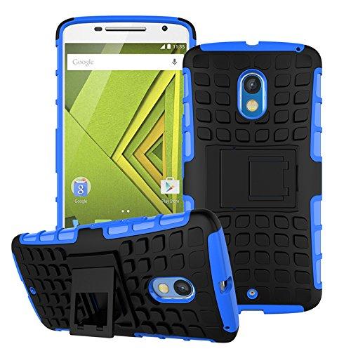 Qiaogle Teléfono Case - Shock Proof TPU + PC Hibrida Stents Carcasa Cover para Samsung Galaxy Note 3 SM-N9000 / SM-N9002 / SM-N9005 (5.7 Pulgadas) - HH04 / Negro HH02 / Azul