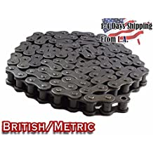 08B Metric Standard Roller Chain 10 Feet with 1 Connecting Link