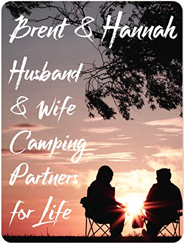 Metal Sign Measures - Personalized Decorative Aluminum Sign, Husband & Wife Camping Partners for Life, Home or Camper Decor, Use Indoors or Outdoors, Measures 9