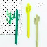 12 pcs/Lot Green Cactus Gel pen Cute pens caneta escolar for writing Stationery Office accessories school