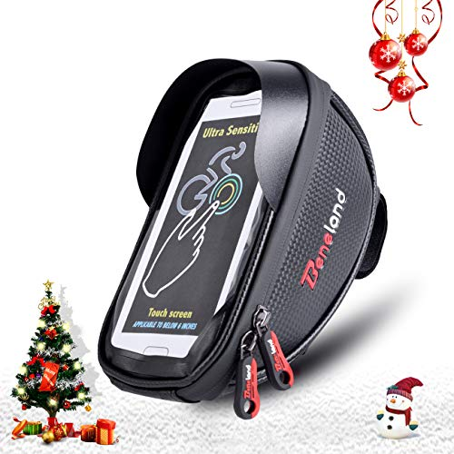 Bike Bag, Waterproof Touch Screen Bicycle Handbar Front Phon