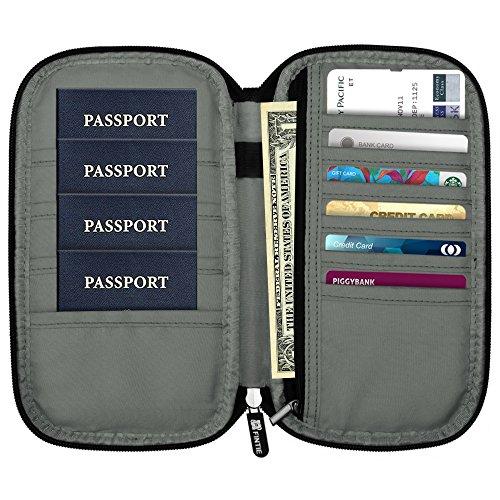 Family Passport Holder, Fintie RFID Blocking Zipper Case Document Organizer, Love Tree by Fintie (Image #2)'
