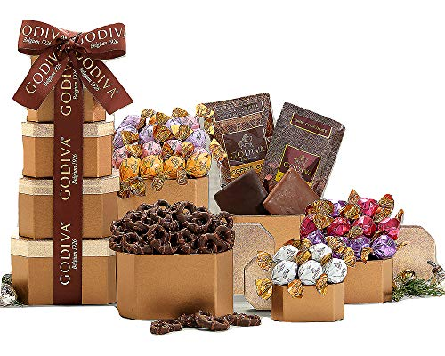 Wine Country Gift Baskets Godiva Milk and Dark Chocolate Tower ()