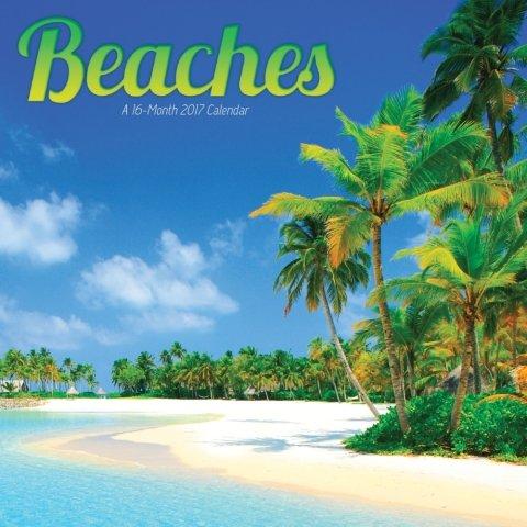 Beaches Mini Calendar 2017 -- Deluxe Beach Small Wall Calendar (7x7)