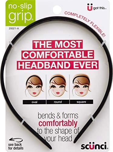 Scunci No Slip Grip Bendable Headband - 3 per case.