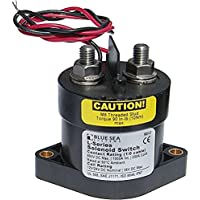 BLUE SEA SYSTEMS Solenoid Switch, L Series, 12/24VDC w/Coil Economizer, MFG# 9012, Grey, Ignition Protection, 60 VDC, 2000 Amp Inrush, 250 Amp continuous capacity. Operated by remote switch. / BS-9012 /