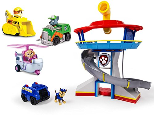 Nickelodeon Paw Patrol - Look-Out Playset, Vehicle and Figure with Paw Patrol Racers 3-Pack Vehicle Set, Rubble/Rocky/Skye, - India Police Sunglasses Online