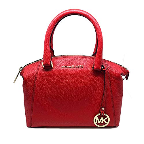 Riley Satchel - Michael Kors Riley Small Satchel Bag Leather DK Sangria (35S8GRLS1L)