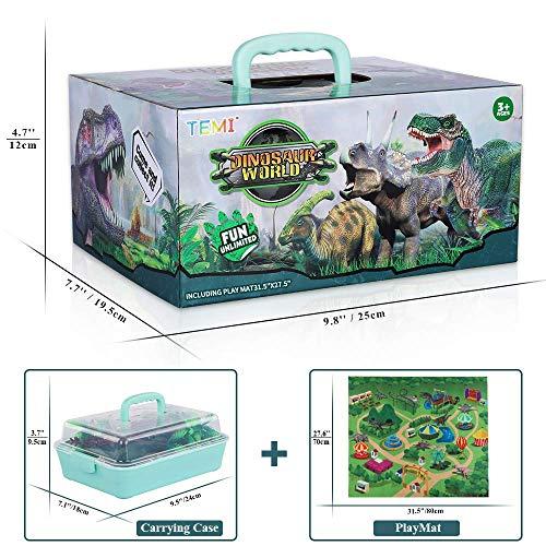Dinosaur Toy Figure With Activity Play Mat /& Trees Educational Dinosaur Playset